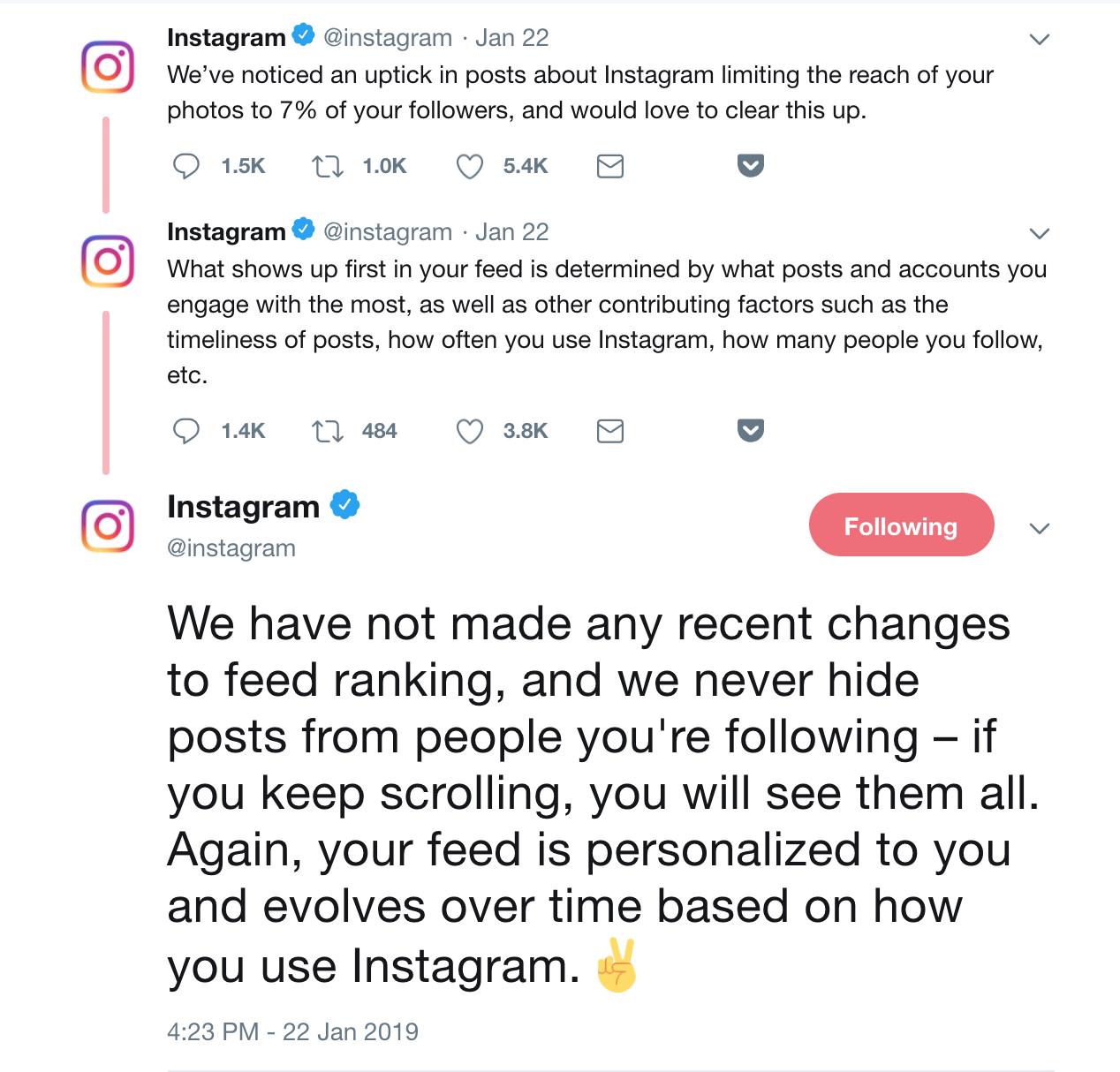 instagram limits reach